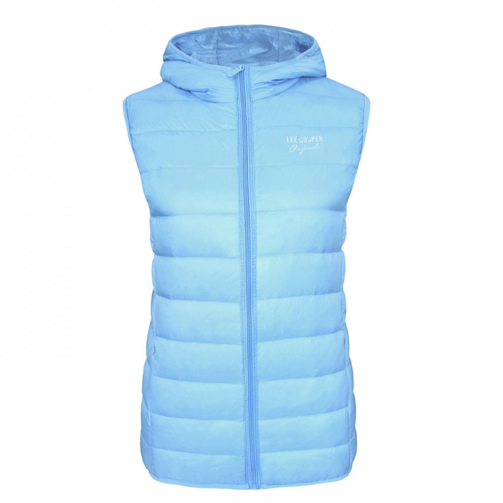 Lee Cooper Down Hooded Gilet Ladies