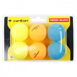 Carlton Neon Glow Table Tennis Balls 6 Pack